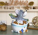 Копилка мышка в ванной 12*14*9 см 026 A 026C, фото 2