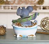 Копилка мышка в ванной 12*14*9 см 026 A 026C, фото 3