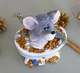 Копилка мышка в ванной 12*14*9 см 026 A 026C, фото 4