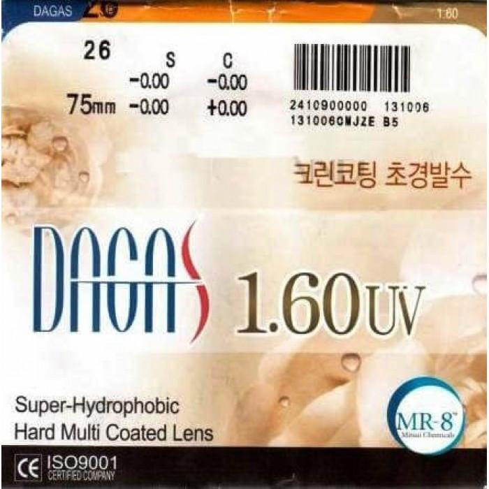 Оптическая линза Dagas 1.6 Super-Hydrophobic