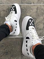 "Кроссовки Nike Air Force 1 Off-White ""Белые/Черные"", фото 3"