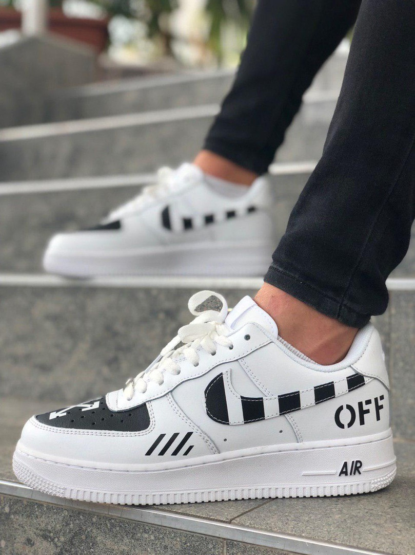 "Кроссовки Nike Air Force 1 Off-White ""Белые/Черные"""