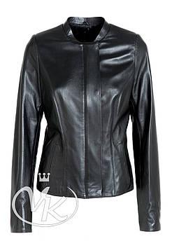 Кожаная куртка на молнии, классика (MONC201)