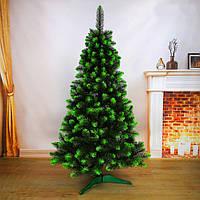 """Искусственная елка. Высота 2.00м. (пышная). С мягкой иглой. """"Королевская"""". С белым/зеленым напылением."""