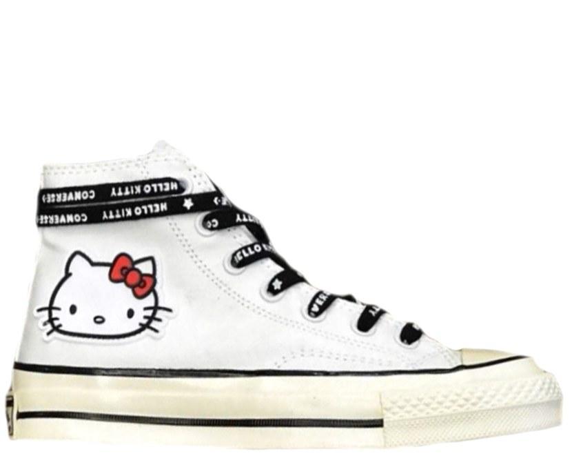 Оригинальные кеды женские Converse x Hello Kitty 2.0 White