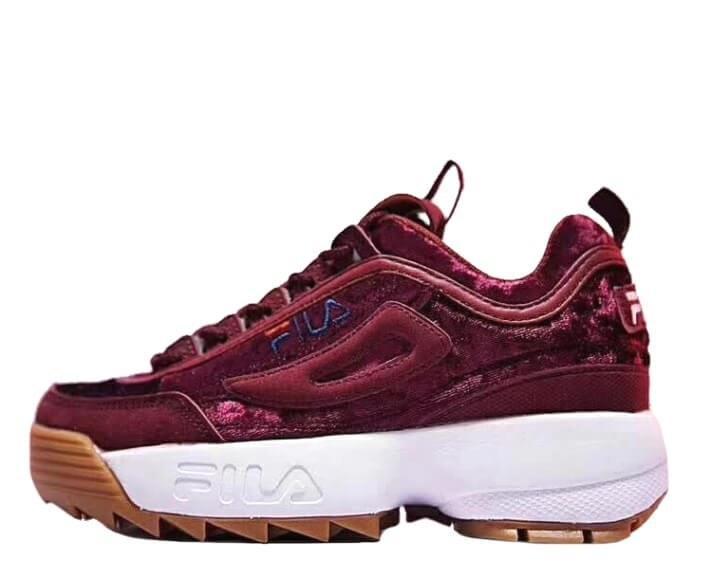Оригинальные кроссовки женские Fila Disruptor II Red Velvet