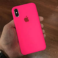 Чехол на телефон iphone x xs 10 красивый силиконовый бампер для айфона 10 розовый