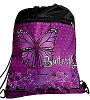 Сумка для сменной обуви в школу спереди карман легкая Vombato Butterfly 2-7844
