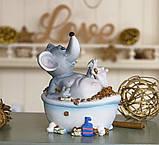 Копилка мышка в ванной 12*14*9 см 026 A 026D, фото 3