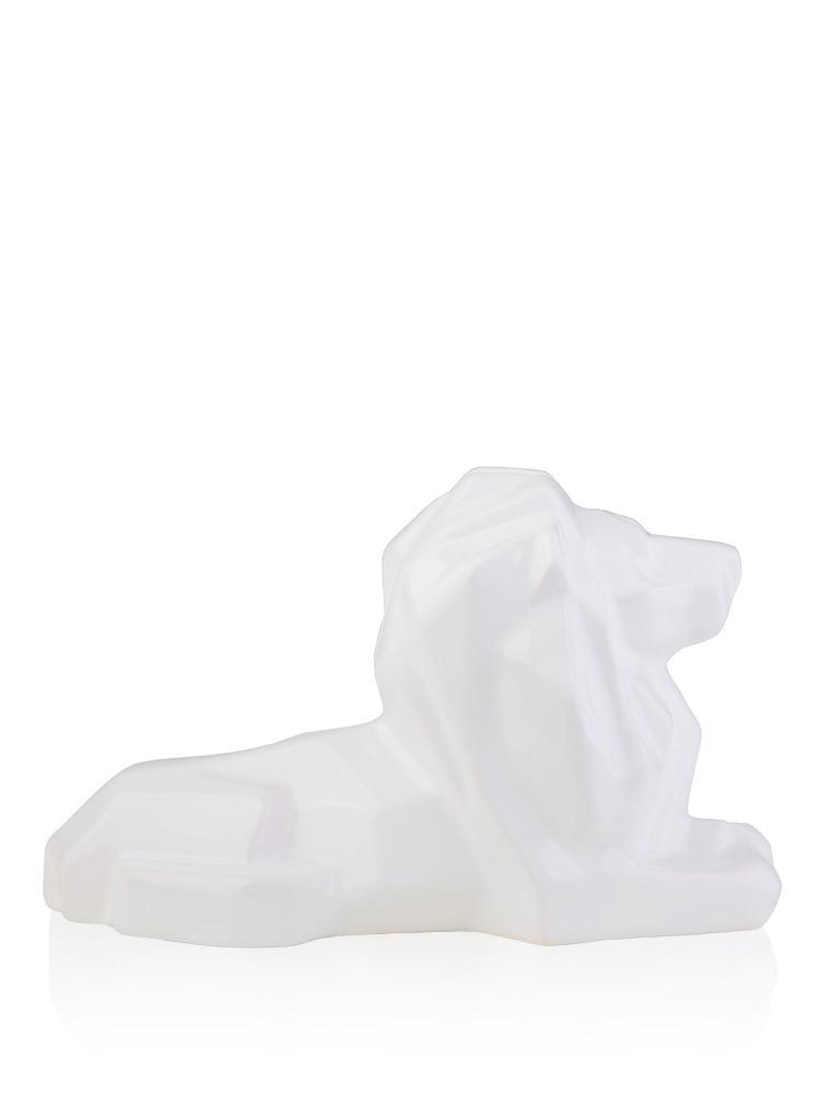 Статуэтка полигональная Лев белая керамика 20.5*10*13 см 2509-13 фигурка льва