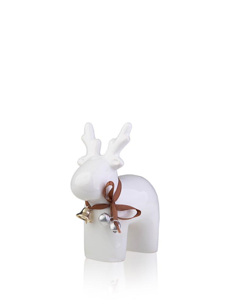 Статуэтка керамика Олень белый 12*5.5*14 см 1407-14 белый фигурка оленя