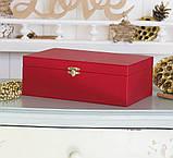 Шкатулка для ювелирных украшений   22*13,6*7,5 603426 красная, фото 2