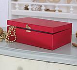 Шкатулка для ювелирных украшений   22*13,6*7,5 603426 красная, фото 3