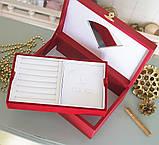 Шкатулка для ювелирных украшений   22*13,6*7,5 603426 красная, фото 4