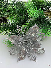 Новогоднее украшение. Пуансетия розовая., фото 3