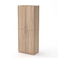 Шкаф книжный КШ-12 дуб сонома  (60х37х159 см)