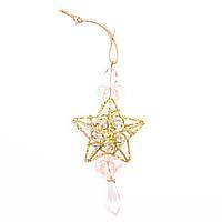 Блестящие фигурки с вплетенным бисером, 10см, звезда (430116-1)