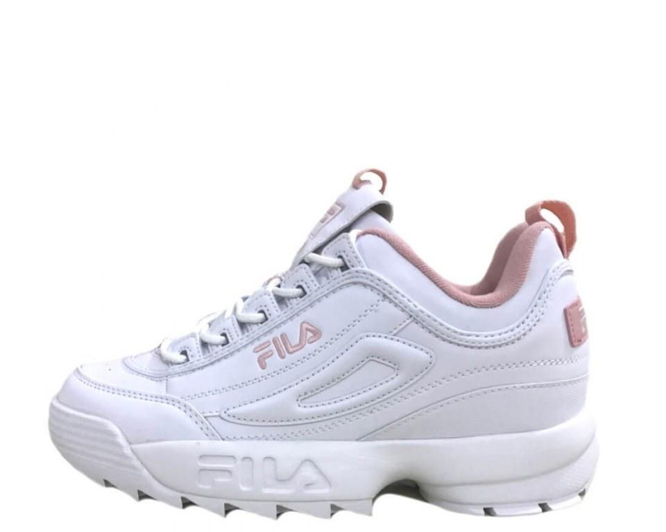 Оригинальные кроссовки мужские Fila Disruptor II White/Pink
