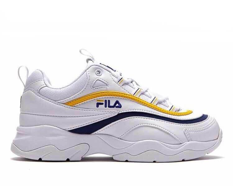 Оригинальные кроссовки женские Fila Ray White/Yellow/Blue