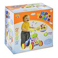 Ходунки каталка 2 в 1 с игровым развивающим центром для детей от 1 года музыкальные Бегемотик в коробке