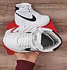 Підліткові, дитячі зимові черевики кросівки Nike Air Force White/Black, фото 4