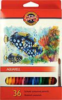 Набор цветных акварельных карандашей 36 шт. KOH-I-NOOR AQUARELL