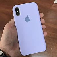Чехол на телефон iphone x xs 10 красивый силиконовый бампер для айфона 10 светло фиолетовый
