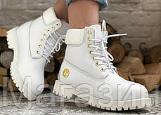 Женские зимние ботинки Timberland 6 Inch Premium Winter White зима Тимберленд С МЕХОМ белые, фото 3