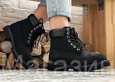 Женские зимние ботинки Timberland 6 Inch Premium Black 2020 Тимберленды БЕЗ МЕХА Тимбы черные, фото 3