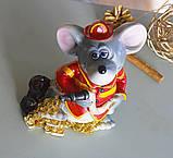 Копилка мышка пожарный 11*15*8 см 026 A 073-1, фото 5