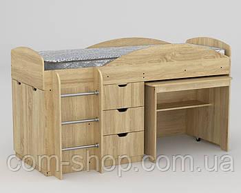 Кровать с матрасом Универсал дуб сонома  (194х89х106 см)