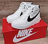 Жіночі зимові черевики кросівки Nike Air Force White/Black, фото 2