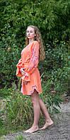 """Сукня жіноча """"Диво-квітка міні"""" , персиковий колір, фото 1"""