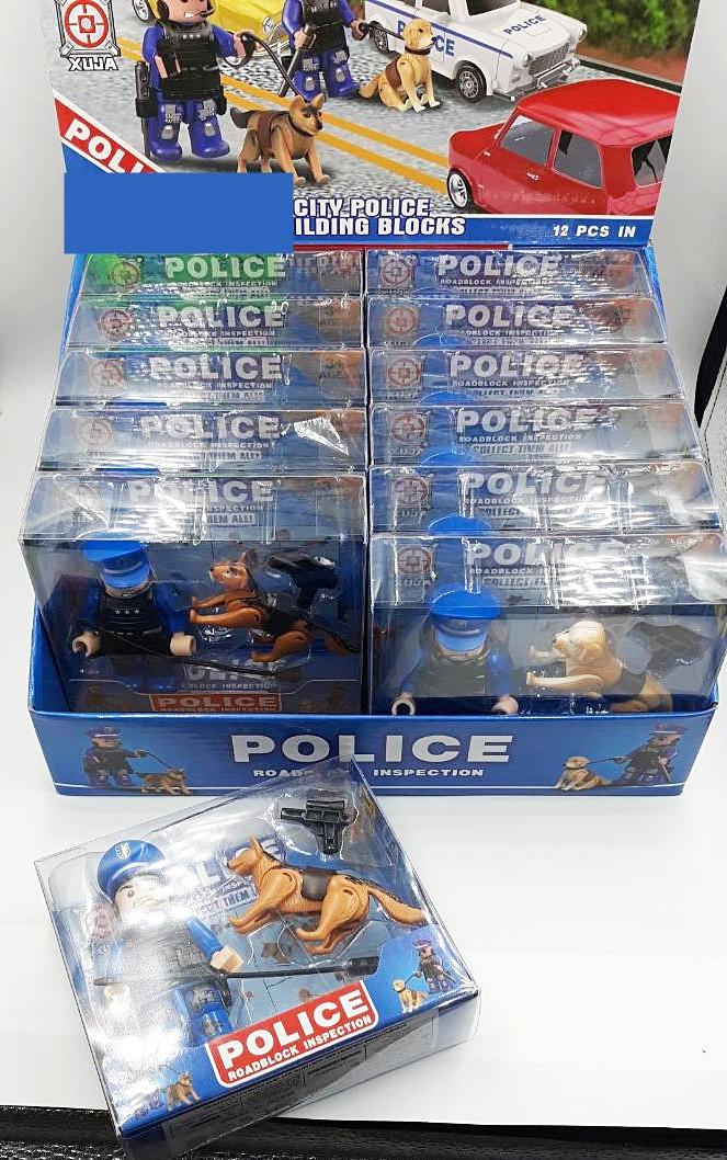 Игровая фигурка полицейский с собакой