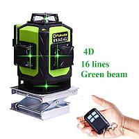 Зеленые лучи Лазерный уровень нивелир 4D 360 16 линий Fukuda MW-94D-4GJ