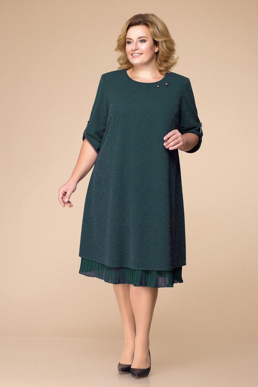 Платье женское Беларусь модель Р-1727-18 зеленое