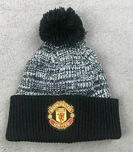 Зимняя шапка Манчестер Юнайтенд черно-серая