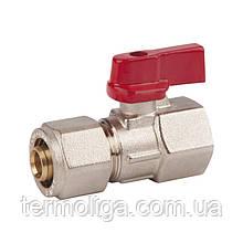 "Кран шаровой SD Forte для металлопластиковых труб 16х1/2"", внутренняя резьба"