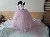 Дитяче плаття зі знімним шлейфом. Сукня універсальний розмір., фото 2