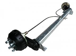 Торсионные оси с тормозом 1500кг с автоматическим регулированием тормозных колодок
