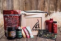 """Ящик 4MAN """"Спортивный"""". Спортивные подарки для мужчин. Оригинальный мужской подаррочный набор в ящике"""