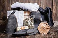 """Ящик 4MAN """"Банный 2.0"""". Набор для бани и сауны. Банные подарки для мужчин в деревянном подарочном ящике"""