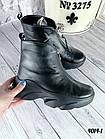 Женские зимние черные ботинки, из натуральной кожи 38  ПОСЛЕДНИЙ РАЗМЕР, фото 2