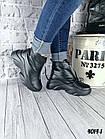 Женские зимние черные ботинки, из натуральной кожи 38  ПОСЛЕДНИЙ РАЗМЕР, фото 3