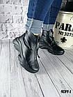 Женские зимние черные ботинки, из натуральной кожи 38  ПОСЛЕДНИЙ РАЗМЕР, фото 4