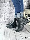 Женские зимние черные ботинки, из натуральной кожи 38  ПОСЛЕДНИЙ РАЗМЕР, фото 5