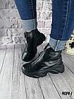Женские зимние черные ботинки, из натуральной кожи 38  ПОСЛЕДНИЙ РАЗМЕР, фото 6