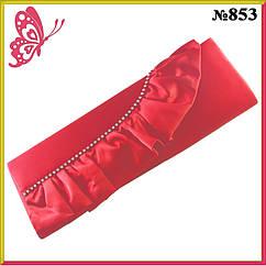 Клатч Женский Красный Нарядный с Оборкой Модель 853, Маленькая Вечерняя Сумка