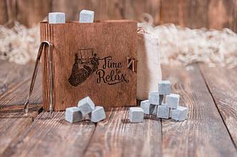 """Оригинальные стеатитовые камни для виски. 12 шт. в подарочном наборе """"Time to relax"""""""