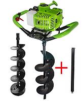 Мотобур Craft-tec PRO EA-200 (в комплекте 1 шнек 100мм и 1 шнек 200мм + удлинитель 500мм). Бензобур Крафт-Тек